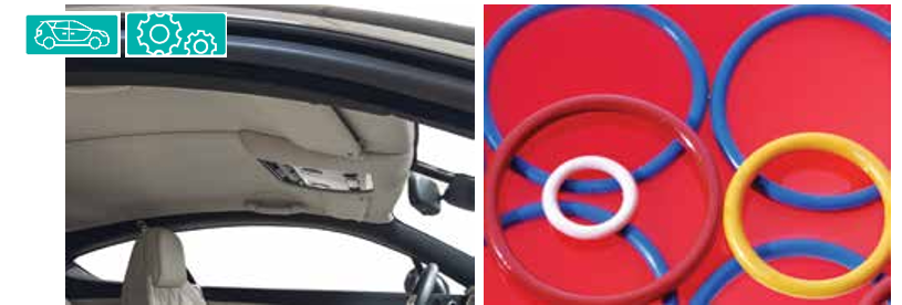 Rubber and plastic components, such as O-rings and seals